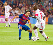 Xavi and Seedorf Stock Image