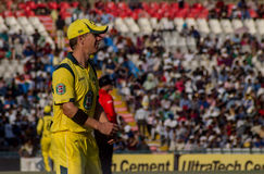 Xavier Doherty Cricketer. Xavier Doherty of Australia during the cricket match between India and Australia in Chandigarh, Mohali Royalty Free Stock Photography