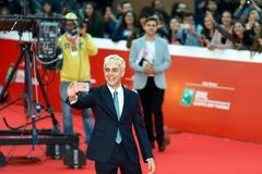 Xavier Dolan en la alfombra roja del Fest 2017 de la película de Roma Fotografía de archivo libre de regalías