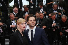Xavier Dolan, Producent Nancy Grant royalty-vrije stock foto