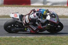 Xavier Simeon, Moto2 Montmelo Stock Images