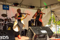 The xavier strings performing at the bequia music fest Royalty Free Stock Image