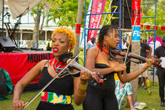 The xavier strings performing at the bequia music fest Royalty Free Stock Photo