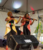 The xavier strings performing on stage in the windward islands Stock Photography