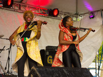 The xavier strings performing on stage in the windward islands Royalty Free Stock Photography