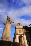 xaview статуи st francis Паыля церков Стоковые Фотографии RF