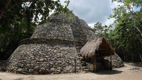 Xay is piramide, Coba, Mexico stock fotografie