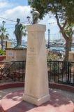 Xbiex Malta - Maj 9, 2017: Monument som memorerar William Apap Royaltyfria Foton