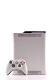 Xbox 360 by Microsoft. With White Controller Stock Photo