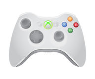 Xbox gamepad illustration. Xbox video game controller illustration isolated on white background with shadow Stock Photos