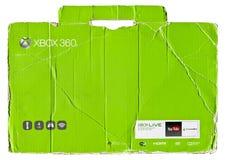 Xbox 360 groene karton verpakking royalty-vrije stock afbeeldingen