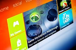 XBox Live 10 yr Anniversary. For its 10 year anniversary XBox is performing a massive update to its XBox Live service. Along with many new gaming and Royalty Free Stock Image