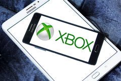 Xbox logo. Logo of Xbox game on samsung mobile on samsung tablet Stock Photography