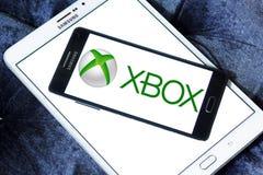 Xbox logo. Logo of Xbox game on samsung mobile on samsung tablet stock photography