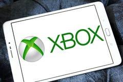 Xbox logo. Logo of Xbox game on samsung tablet Stock Photos