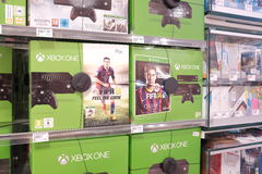 XBox One game consoles Royalty Free Stock Photo