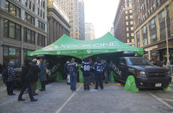XBox One presented on Broadway during Super Bowl XLVIII week in Manhattan Royalty Free Stock Photo