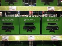Xbox One. TORONTO - NOVEMBER 15: Store displays the Xbox One in Toronto, Canada on November 15, 2013 Stock Image