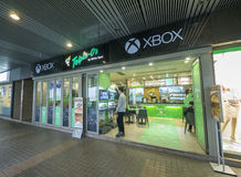 Xbox One x Triple O - the world first restaurant in Hong Kong. The Canadian brand Triple O crossover with TV game console Xbox One in Hong Kong, they redesigned Royalty Free Stock Image