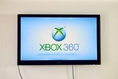 Xbox op TV-het scherm Royalty-vrije Stock Foto