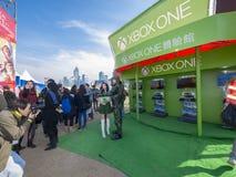 Xbox una cabina - il grande carnevale europeo 2014, Hong Kong Fotografie Stock