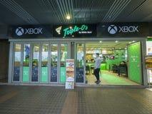 Xbox una x O tripla - il primo ristorante del mondo in Hong Kong Fotografia Stock Libera da Diritti