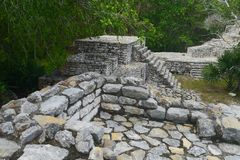 Xcambo mayan ruins Pyramide culture mexico Yucatan Royalty Free Stock Photo