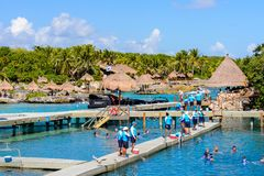 Xcaret park, Mexico Royalty Free Stock Image