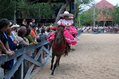 Xcaret Rodeo show performer Stock Image