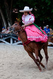 Xcaret Rodeo show performer Royalty Free Stock Photo