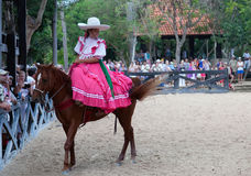 Xcaret Rodeo show performer Stock Photography
