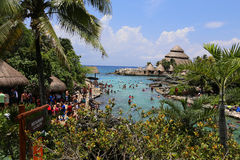Xcaret water park. Near Tulum ruins Stock Photography