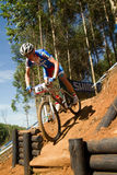 XCO Drop off at UCI MTB World Cup U23 Men Royalty Free Stock Images