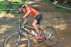 XCO mountain bike competition in Brazil stock photography