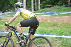 XCO mountain bike competition in Brazil stock image