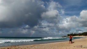Xcorps TV som surfar Hawaii norr kustbränning 3 arkivfilmer