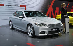 xDrive的BMW M550d 免版税库存图片