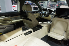 XDrive εσωτερικό της BMW M760i στοκ φωτογραφίες