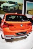 XDrive BMW M135i, Motorshow Geneve 2015 Stock Foto