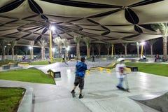 XDubai łyżwy park Zdjęcia Royalty Free
