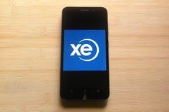 XE app stock afbeeldingen
