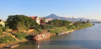 Xe Don River no por do sol fotografia de stock