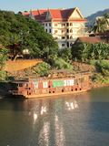 Xe Don River at sunset. Pakse, Laos Stock Image