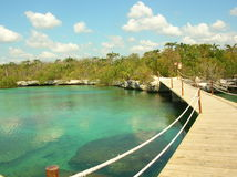 Xel-ha, mexico. Xel-ha a natural water park in Mexico near cancun Stock Photos