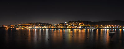 Xemxija Bay at night Stock Photos