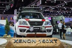 Xenón 150XT con el coche en la expo internacional 2015 del motor de Tailandia Imagenes de archivo