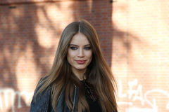 Xenia tchoumitcheva Milano,milan fashion week streetstyle autumn winter 2015 2016 Stock Photos