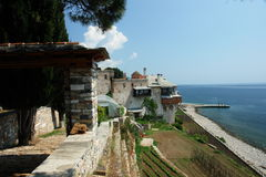 Xenofontos. Monastery Xenofontos, Holy Mount Athos, Greece stock photo