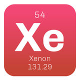 Xenon chemical element Royalty Free Stock Photography