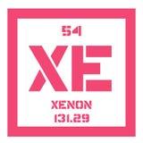 Xenon chemical element Royalty Free Stock Photos